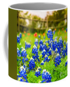 Fence Me In With Flowers Squared  Coffee Mug