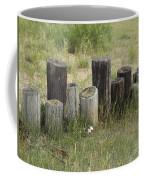 Fence Post All In A Row Coffee Mug