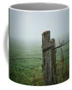 Fence Post And Fog Coffee Mug