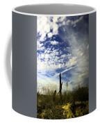 Fence Post And New Mexico Sky Coffee Mug