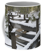 Fence Post At Donner Lake Area Covered Coffee Mug
