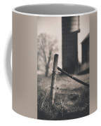 Fence Post In Black And White Coffee Mug