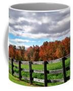 Fences, Fields And Foliage Coffee Mug