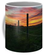 Fencline Sunset Coffee Mug