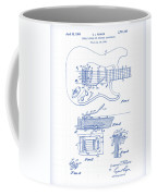 Fender Guitar Patent Drawing Coffee Mug