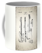 Fender Precision Bass Patent 1952 Coffee Mug