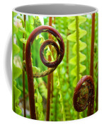 Fern Fronds Fine Art Photography Forest Ferns Green Baslee Troutman Coffee Mug