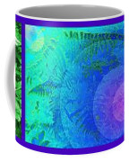 Fern Strip 5 Blue Green Coffee Mug