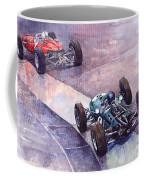 1964 Ferrari 158 Vs Brabham Climax German Gp 1964 Coffee Mug