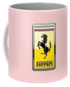 Ferrari 3d Badge-hood Ornament On Red Coffee Mug