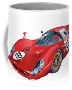Ferrari 412p 330 P4 1967 Le Mans Coffee Mug