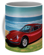 Ferrari Dino 246 Gt 1969 Painting Coffee Mug