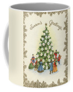 Festive Christmas Tree In A Town Square Coffee Mug