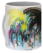 Fiddleheads 105- Original Abstract Colorful Landscape Painting For Sale Red Blue Green Coffee Mug