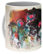 Fiddleheads- Landscape Painting For Sale Red Blue Green Coffee Mug