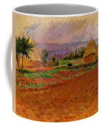 Field And Haystacks 1885 Coffee Mug