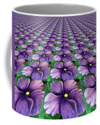 Field Of African Violets Coffee Mug