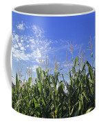 Field Of Corn Against A Clear Blue Sky Coffee Mug