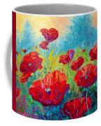 Field Of Red Poppies Coffee Mug