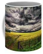 Field Of Yellow Flowers Coffee Mug