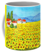 Field With Sunflowers Coffee Mug