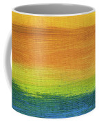 Fields Of Gold 1 - Abstract Summer Landscape Painting Coffee Mug