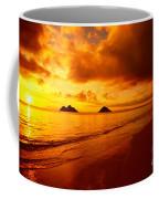 Fiery Lanikai Beach Coffee Mug