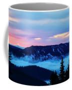 Fiery Sunrise From Mt. Hood Coffee Mug