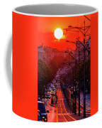 Fiery Sunset In Belgrade Belgradehenge Coffee Mug