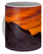 Fiery Sunset Over The Dunes Coffee Mug