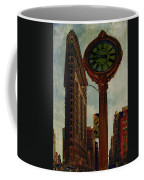 Fifth Avenue Clock And The Flatiron Building Coffee Mug