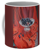 Figs And Grapes On Red  Coffee Mug