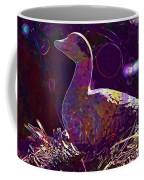 Figure Goose Clay Figure Animal  Coffee Mug
