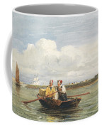Figures In A Boat On The Thames, Gravesend Coffee Mug