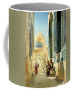 Figures In A Street Before A Mosque Coffee Mug by Richard Karlovich Zommer