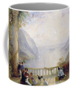 Figures On A Balcony Coffee Mug