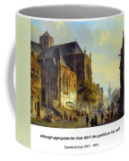 Figures On A Market Square In A Dutch Town 1843 Coffee Mug