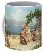 Figures On A Terrace In Capri  Coffee Mug