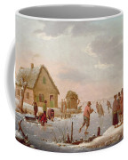 Figures Skating In A Winter Landscape Coffee Mug