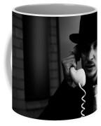 Film Noir Detective On Telephone Coffee Mug