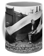 Fin Whale 69 Feet Long At Fields Landing Whaling Station Circa 1945 Coffee Mug
