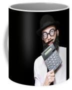 Financial And Accounting Genius With Calculator Coffee Mug