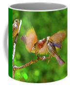Finches In Motion I  Coffee Mug