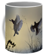 Finches Silhouette With Leaves 6 Coffee Mug
