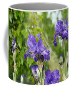 Fine Art Floral Prints Purple Iris Flowers Canvas Irises Baslee Troutman Coffee Mug