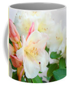 Fine Art Florals Prints White Pink Rhodies Rhododendrons Baslee Troutman Coffee Mug