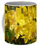 Fine Art Prints Yellow Rhodies Floral Garden Baslee Troutman Coffee Mug