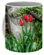 Fine Wine Cafe Red Tulips Coffee Mug