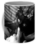 Finger Kiss Cat Coffee Mug