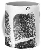 Fingerprints Of Vincenzo Peruggia, Mona Coffee Mug